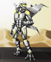 Commission - Armored Avian by Cryophase