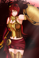 Pyrrha - Red Forest Hunting by NeonIncarnate