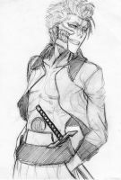 Grimmjow - pencil by AurelGweillys