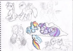 TwiDash Sketch Page 2 by The-Rabid-Brony