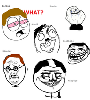 Nazi's in Rage comic form by ImAdolfHitlerBitch