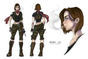 Army Lo - Model Sheet by JennaleeAuclair
