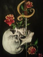Skull Sword Swallowing Painting by MeagenV