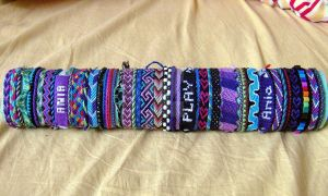 My Friendship Bracelets Collection by Panna-Kot