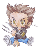 Chibi Wolverine by Racuun