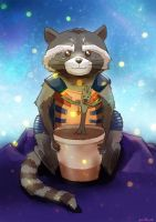 rocket and little groot by Maxineisreallydead