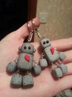Little love-bot keyring set by NoMoreThanMe