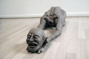 Frank Yang's Mind and Body dillema sculpture. by digitalairair