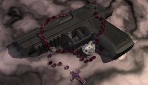 Desert Eagle, Ring and Rosary by JFrayer
