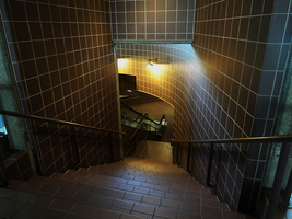 Down into the Tornado Shelter by Atlantagirl