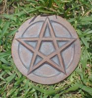 Ceramic Pentacle Ritual Tool by Merytsetesh