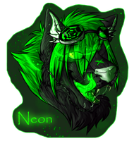 neon badge/headshot thingy by Lightnymfa