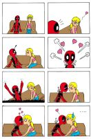 deadpool and his girlfriend 2 by Leon-Z