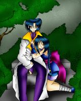 Here With You, Aoshi and Misao by VeeBunny