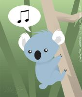 Musical Koala by Mochiroo
