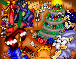 A SatAM Christmas version 2 by jayfoxfire