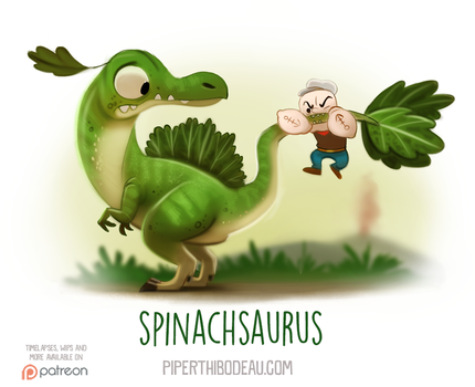 Daily Paint 1545. Spinachsaurus by Cryptid-Creations