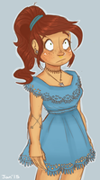 Blue Dress by cadet-of-the-dead