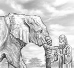 The Blind men and the  Elephant by ELOart