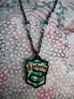 Slytherin Gunmetal Sparkle Necklace by AriesNamarie