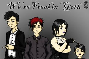 South Park's Goth kids by natas-666