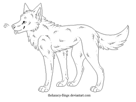free canine lineart by thelunacy-fringe