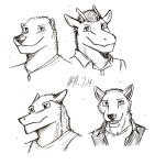 Character Head Sketch by topgae86turbo
