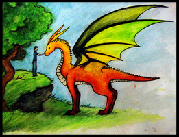 A boy and a dragon by Volpenera94
