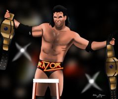Razor Ramon WM 10 Drawing by AllenThomasArtist