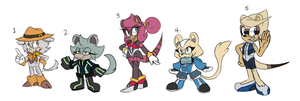 Sonic Adoptable Set :CLOSED: by Zaradopts
