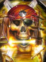 Pirate skull crossfire by DrivenByChaos