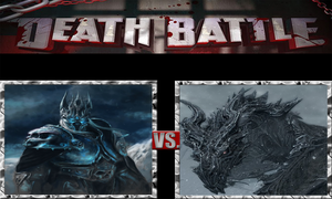 Arthas the Lich King vs. Alduin The World Eater by ScarecrowsMainFan