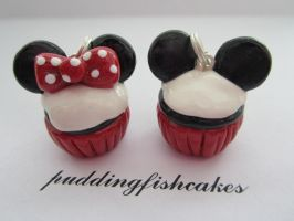 Minnie and Mickey Mouse Cupcakes by puddingfishcakes