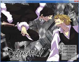 Durarara!! Dating sim - Opening Screen by WaveQuestionmark