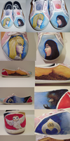 Labyrinth - Shoe painting by Losing-My-Marbles