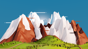 Low Poly Mountains | Cinema 4D by JoelJohnston