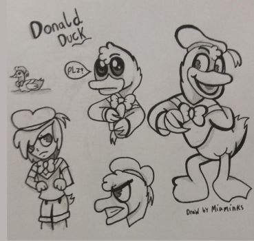 Donald Duck (Sketch) by MiaMinks