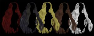 Long wavy hair png stock by DemoncherryStock