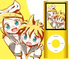 Rin and Len Kagamine ipod by megaminotsubasa
