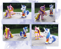 My Little Pony Blindbag Cadence and Shining Armor by kaizerin