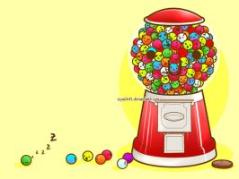 Happy Gumball Machine by iSpaz247