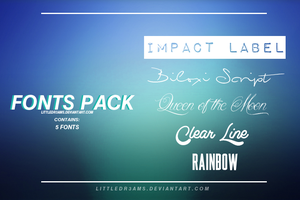 FONT PACK III by LittleDr3ams