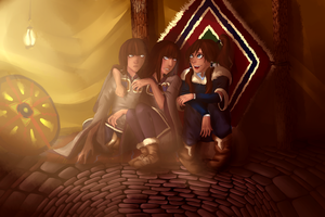 Korra and the twins ^ ^ by Anny96