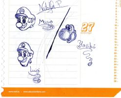Mario,Luigi and Yoshi 'pen' by Dino-drawer