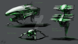 Ground Vehicles for alien race by AlphaAnime