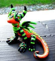 Halloween Dragon Sculpture by MaryBunnie