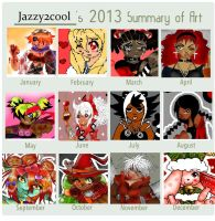 Summary of art 2013 by BrownieTheif