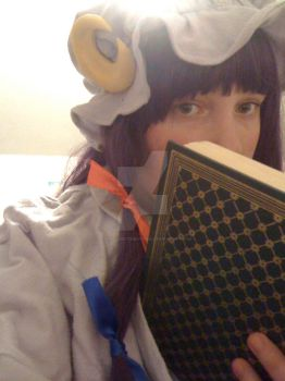 Girl Who Hides Behind Books by StitchCometCreations