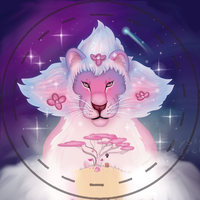 Lion button by CrystalCircle