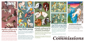 Commission Sheet 2017 by ivyhaze